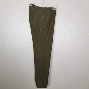 Theory Alettah Approach Green Slim Stretch Pants